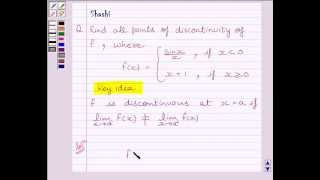 Example:Points of Discontinuity