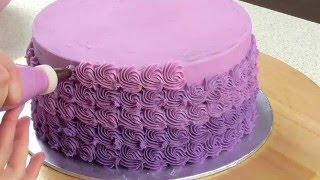 Mini Ombré Rosette Cake Decorating - CAKE STYLE