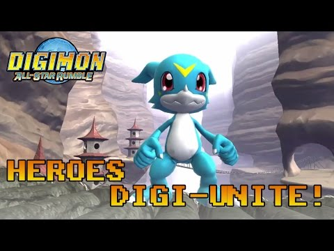 Digimon All-Star Rumble - PS3/X360 - Heroes digi-unite! (Veemon and Gatomon are awesome trailer)