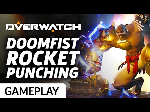 Overwatch - 11 Minutes of Rocket Punching with Doomfist Gameplay