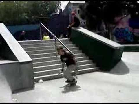 me skateboarding