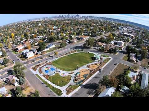 Cuatro Vientos Park - The Colorado Lottery and GOCO worked together to help fund the development of this very special and much needed park south of Denver in the Westwood neighborhood. Built on what used to be an abandoned lot, the park boasts swing sets, a playing field, canopies and one of the best views of Denver!