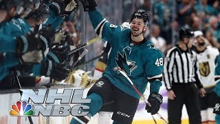 NHL Stanley Cup Playoffs 2019: Golden Knights vs. Sharks | Game 5 Highlights | NBC Sports