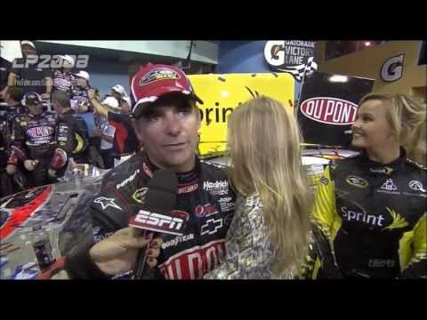 Jeff Gordon Career Win #87 2012 Ford Ecoboost 400 Finish HD