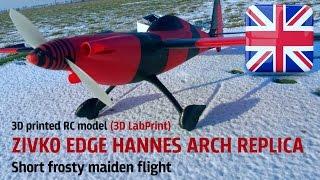 3D printed ZIVKO EDGE HANNES ARCH REPLICA   Short frosty maiden flight