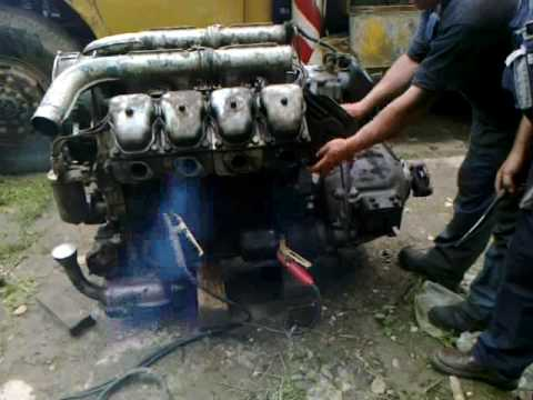 TATRA motor járatása / TATRA engine