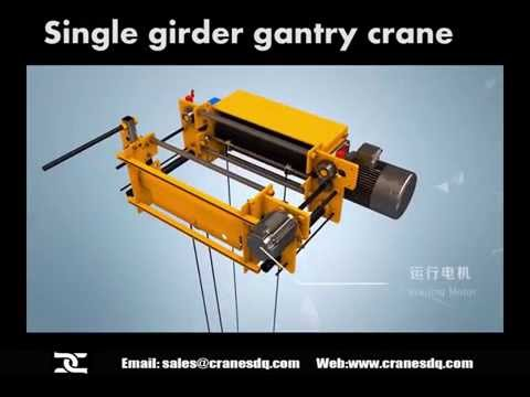 Gantry crane series: double/single girder gantry crane