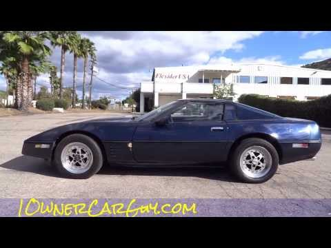 C4 Corvette Chevrolet Sport Coupe Exterior & Test Drive Review