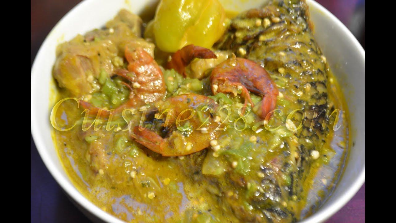 Sauce de gombo okra soup cuisine togolaise for Cuisine africaine