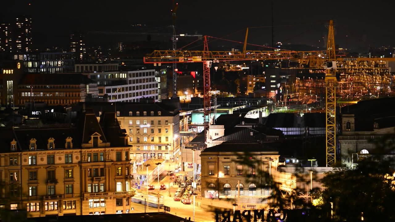 Zurich City Night Zurich City Night Lights