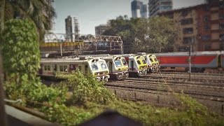 Mumbai Local Train TIME-LAPSE : Watch 15 trains in 13 minutes!!! All types of EMUs!!!