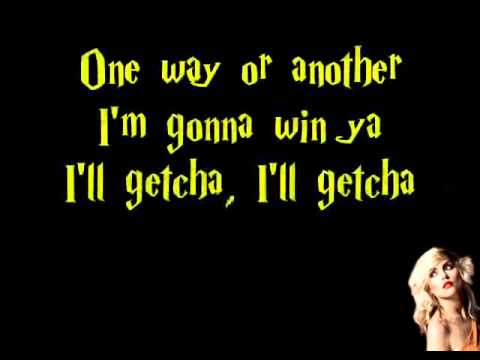 One Way Or Another Lyrics- Blondie video