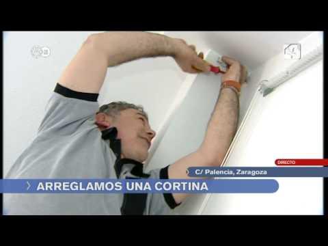 Colocar riel de cortina youtube for Como poner ganchos en cortinas