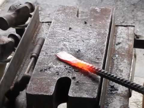 Forging A Set Of Tongs Youtube