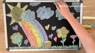 Somewhere Over the Rainbow ♥ Lullaby for Babies + Chalk Art