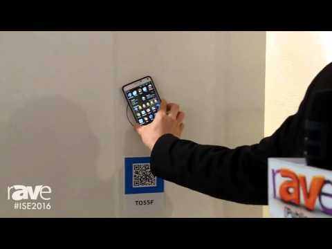 ISE 2016: Samsung Demos the New TO55F Semi-Transparent Display with NFC Enabled Device Capabilities