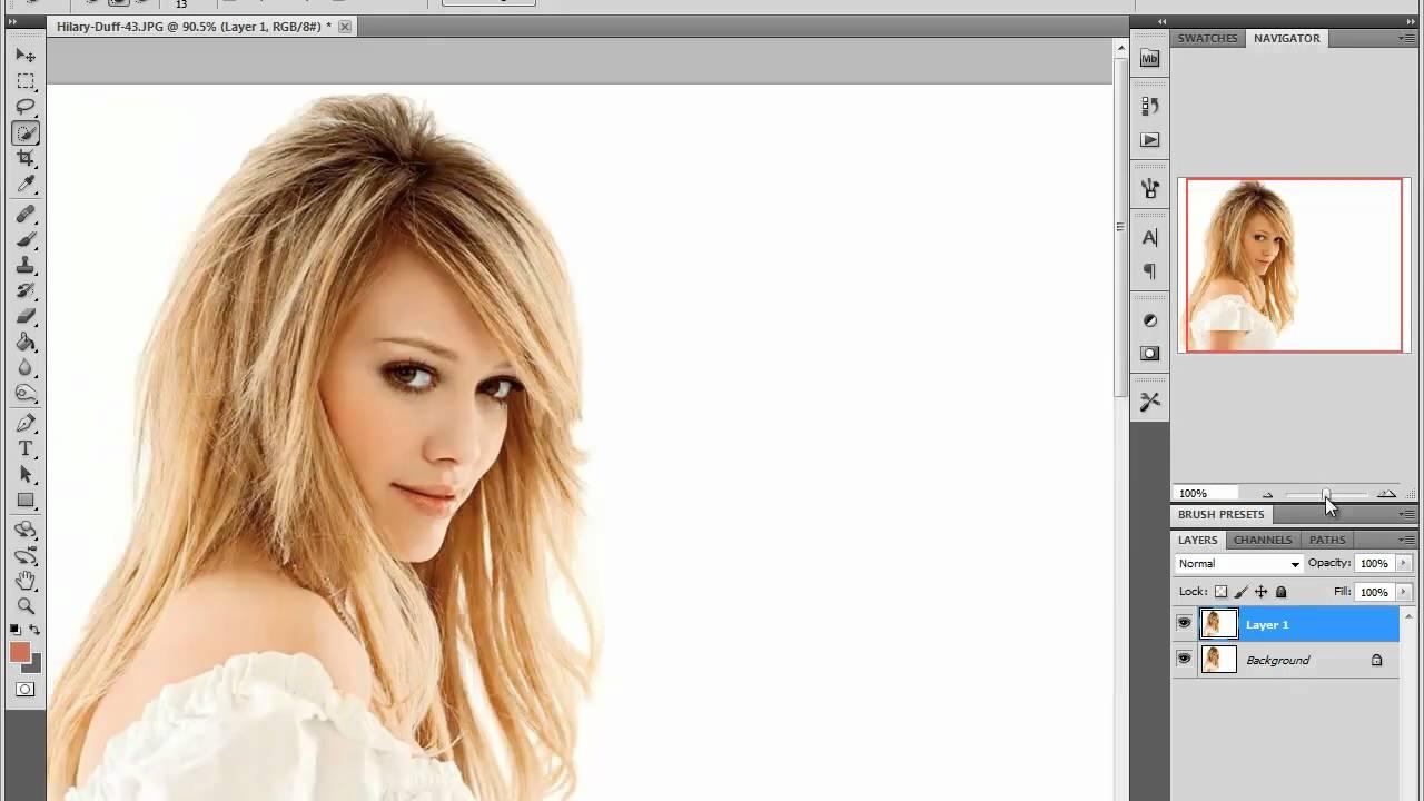 Как сделать на фотошопе красивые волосы