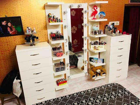 My NEW Customised Makeup Vanity + Makeup Collection & Storage KOLKATA || INDIA