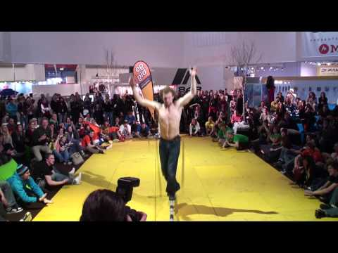 GIBBON Slackline Contest at ISPO 2010  - Official Video