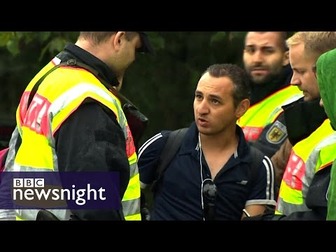 The migrants at the Austria-Germany border -  Newsnight