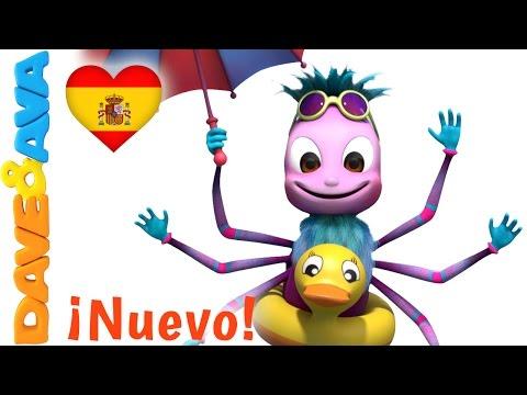 ✨ Canciones Infantiles   Itsy Bitsy Araña   Video Infantiles en Español de Dave y Ava ✨