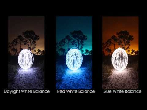 Light Painting Photography Tutorial: Custom White Balance