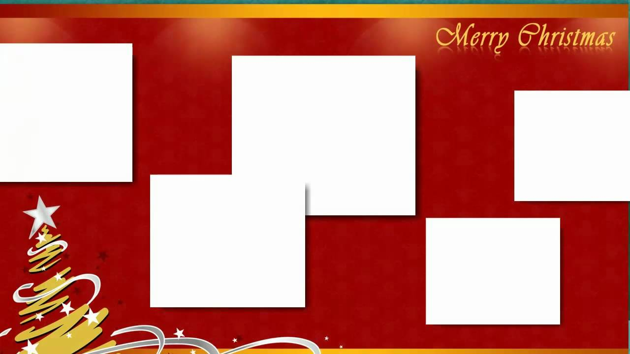 Christmas Collage And Scrapbook Templates HD Video YouTube