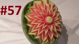 #57 Simple flower on watermelon / Prosty kwiat rzeźbiony w arbuzie