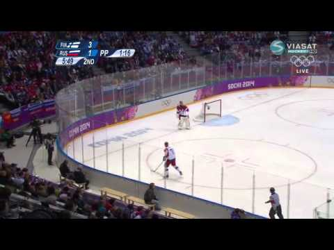 Winter Olympics 2014 Ice Hockey Mens Quarterfinals Finland-Russia 3-1
