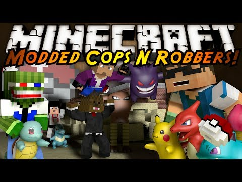 Minecraft Mini-game : Modded Cops N Robbers! Pokemon! video