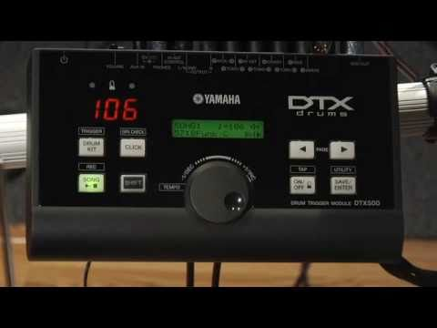 Yamaha DTX550K Electronic Drum Set Video