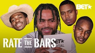 Dave East Tries To Rate Fairly But Still Thinks These Rapper's Bars Seem Silly! | Rate The Bars
