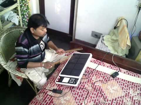 Dhruba Playing Octapad in MONO MOR MEGHER O SANGEE(rabindra...