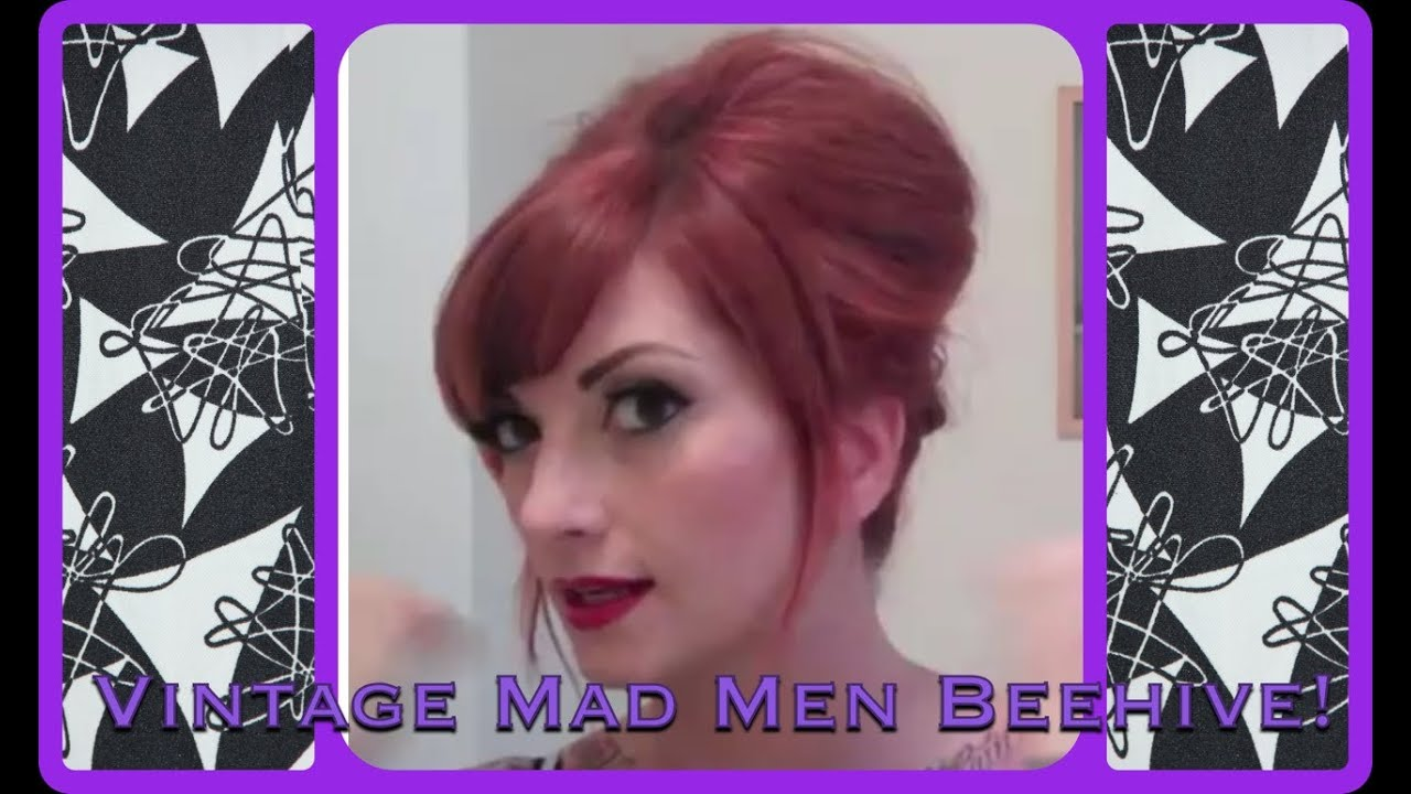 Vintage Everyday Beehive Bouffant Hair Tutorial By Cherry