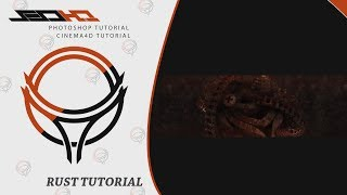 Cinema4D & PS Tutorial   How I Make Rust Style Render and Banner
