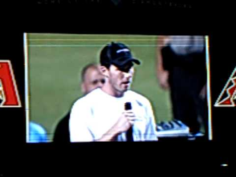 3/10 Mercyme - Stephen Drew & Blaine Boyer's Testimonies @ Chase Field 9/18/09 Phoenix, AZ2 Video
