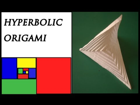 how to make an origami hyperbolic paraboloid youtube