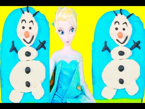 Play-Doh Frozen Popsicle Olaf Summer Treat - Disney Elsa Barbie Doll DIY Easy Craft Video