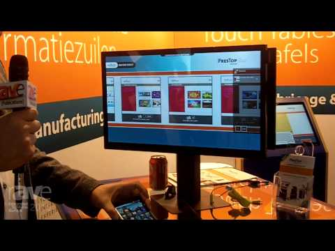 ISE 2015: PresTop Demonstrates Phone Charging Table and Display