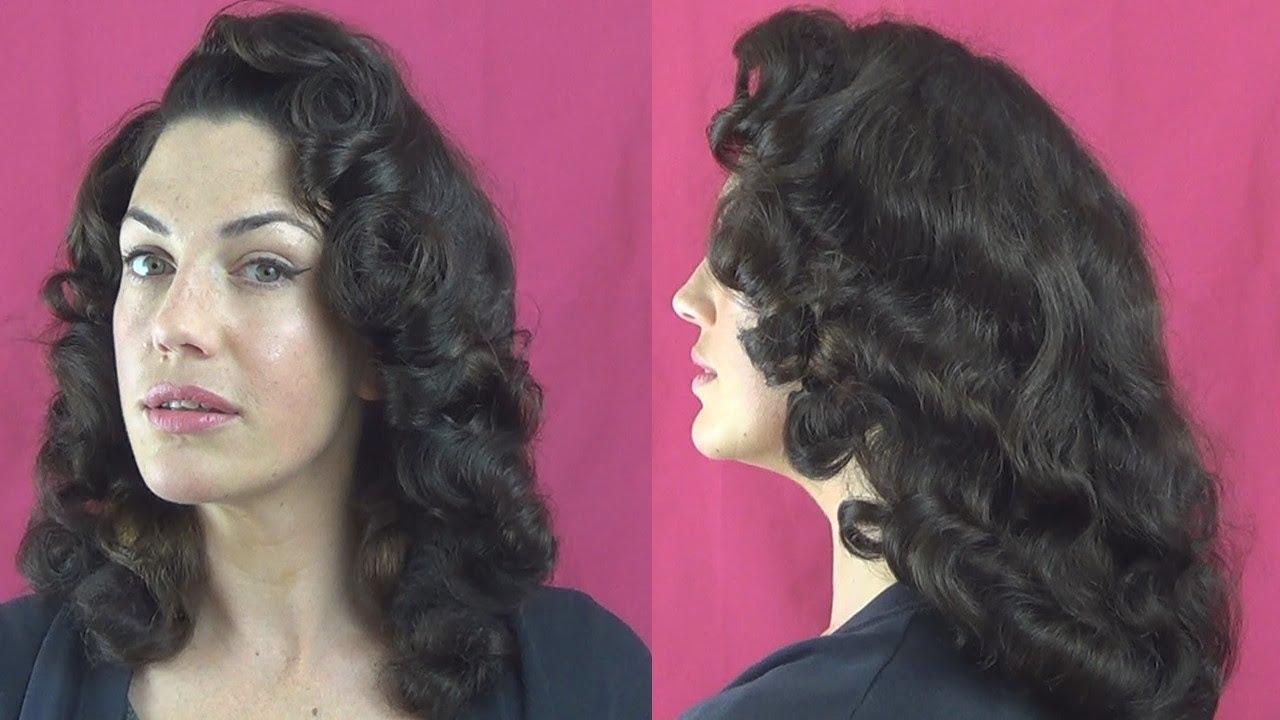 How I do a FOAM ROLLER set & BRUSH OUT for VINTAGE PINUP curls ...