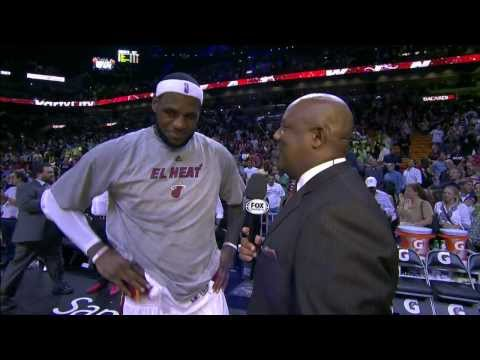 LeBron James' Postgame Interview After Scoring a Career-High