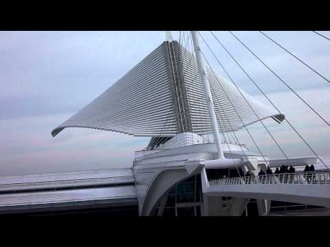 "Travel- The Milwaukee Art Museum closing its' ""wings""."