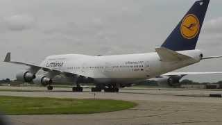 - RARE - Lufthansa B747-430 *EXTREME CLOSE UP* | MSP