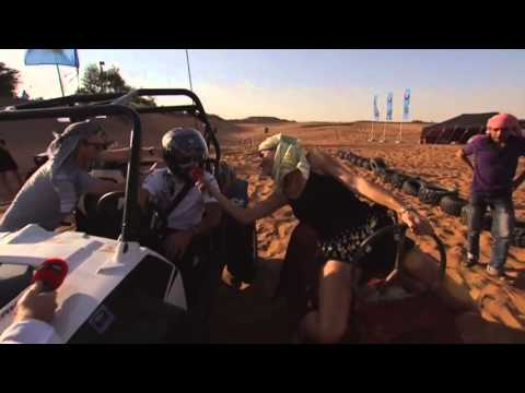 Lewis Hamilton and Nico Rosberg at the Sand Grand Prix (Sky Sports F1) - Abu Dhabi 2013