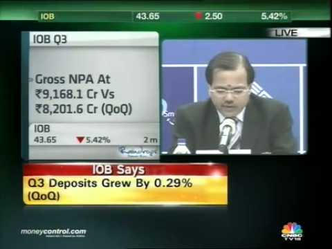 IOB's net profit dips 35% to Rs 75 crore in Q3