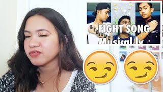 REACTING TO JIRO MORATO (fight song musical.ly)