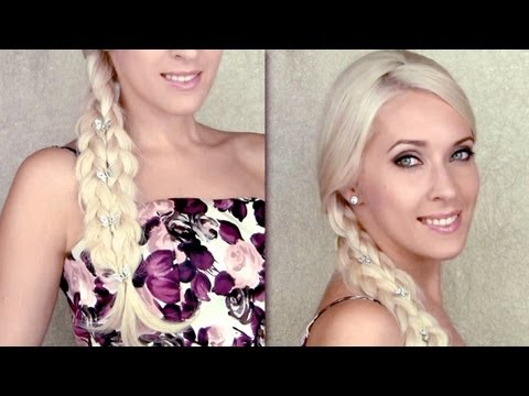 An easy braid trick - Side swept hairstyle for prom and everyday