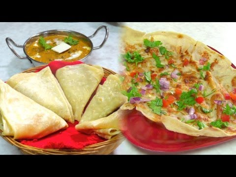 Roomali Roti &amp; Roomali Masala Papad Recipe video by Bhavna