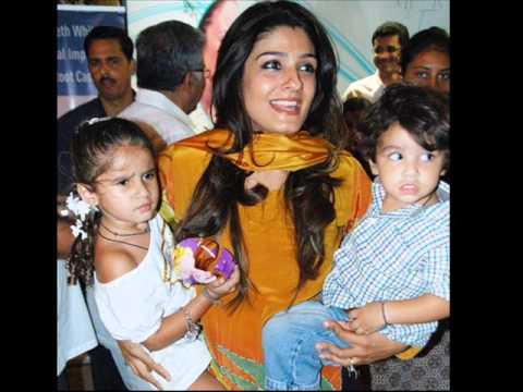 raveena tandon wedding images and children images, by lixup