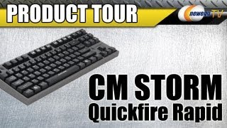 Newegg TV_ Cooler Master CMStorm Quickfire Rapid Mechanical Keyboard Product Tour